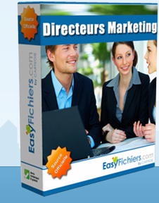 fichier directeurs marketing, responsables marketing